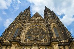 St.Vitus, Wenceslas and Adalbert Cathedral in Hradcany Stock Photos