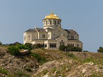 St. Vladimir's Cathedral in Cherson. View of St. Vladimir's Cathedral in Chersonesos Royalty Free Stock Images