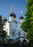 St Vladimir's Church. Church of St. Vladimir Equal-to-the-Apostles-in the Old Gardens in Moscow Royalty Free Stock Photo