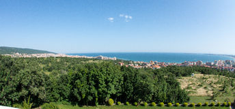 St Vlas et Sunny Bay du panorama KK en Bulgarie Images libres de droits