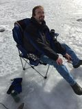 St Vrain State Park 6 d'événement de pêche de glace Images libres de droits