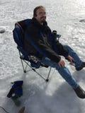 St Vrain State Park 6 del evento de la pesca del hielo imágenes de archivo libres de regalías
