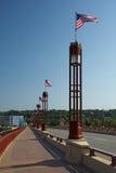 Мост свободы St Wabasha, St Paul, Минесота стоковые изображения rf
