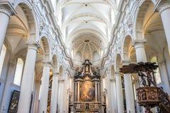 St Walburga教会在布鲁基,比利时,欧洲 免版税库存图片