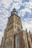 St. Walburgis church in the center of Zutphen Royalty Free Stock Photos
