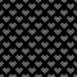St walentynki dnia czarny i biały wzór Fotografia Royalty Free
