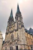 St Wenceslas Cathedral in Tsjechische Olomouc, Royalty-vrije Stock Afbeeldingen