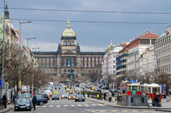 St. Wenceslas' square, Prague Royalty Free Stock Photo