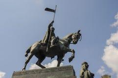 St Wenceslas statua Zdjęcia Stock