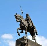 St Wenceslas statue on Wenceslav Square, Prague Royalty Free Stock Photos