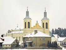 St Wenceslaus kościół katolicki w Vawkavysk Białoruś obraz stock