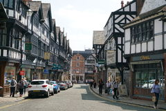 St Werburgh Straat, Chester royalty-vrije stock foto