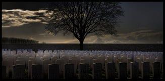 1st wereldoorlogbegraafplaats Stock Afbeeldingen