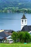 St Wolfgang Lake,Austria Stock Image