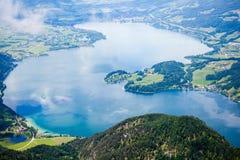 St. Wolfgang Lake. At mountain top of St. Wolfgang lake Royalty Free Stock Image