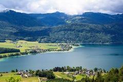 St. Wolfgang Lake. At mountain top of St. Wolfgang lake Stock Photography