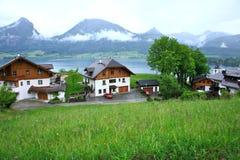 St Wolfgang Lake, Oostenrijk Stock Afbeelding