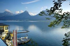 St Wolfgang meer in Oostenrijk Stock Fotografie