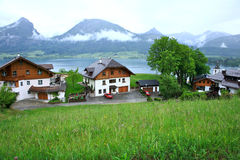 St Wolfgang See, Österreich stockbild