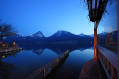St. Wolfgangsee in Austria at night Royalty Free Stock Photos