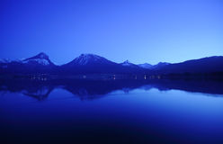 St. Wolfgangsee in Austria at night Royalty Free Stock Photography