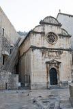 St wybawiciela ` s kościół na Placa Stradum w Dubrovnik Starym miasteczku obraz stock