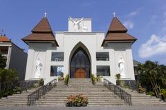 st xavier för bali katolsk kyrkafrancis kuta Arkivfoto
