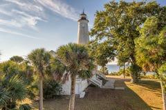 St Zaznacza Krajową rezerwat dzikiej przyrody latarnię morską, Floryda zdjęcie stock