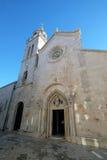 St Zaznacza s katedrę w Korcula, Chorwacja Obrazy Royalty Free