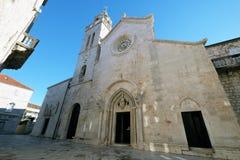 St Zaznacza s katedrę w Korcula, Chorwacja Zdjęcia Stock