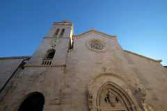 St Zaznacza s katedrę w Korcula, Chorwacja Obraz Royalty Free