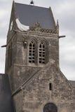 St. Zwyczajny Eglise, Normandy, Francja Zdjęcia Stock