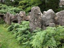 Stać kamienie przy druida ` s świątynią, Masham, Yorkshire Zdjęcie Royalty Free