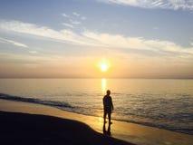 Stać W wschodzie słońca Obraz Stock