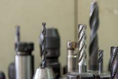 Stały młynu narzędzie dla CNC maszyny Zdjęcie Royalty Free