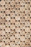 Stały tło drewniane baryłki Odgórny widok Fotografia Royalty Free