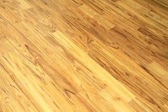 Stały tekowy drewniany podłogowy parkietowy Obrazy Stock