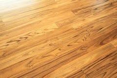 Stały tekowy drewniany podłogowy parkietowy Obrazy Royalty Free