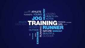 Stażowego biegacza jog jogger stylu życia napadu sprawności fizycznej sporta ćwiczenia zdrowa kobieta animował słowa obłocznego t obraz royalty free