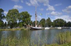 Stażowy naczynie w Sjötorp, Szwecja Obrazy Royalty Free