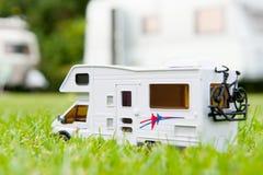 Sta-caravan stock afbeelding