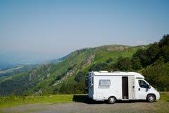 Sta-caravan, Garazi Baigorri-vallei, Baskisch Land royalty-vrije stock foto