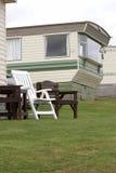 Sta-caravan in Pembrokeshire Stock Afbeelding