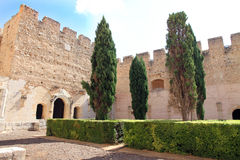 Sta Maria de la Valldigna, oud klooster in Simat DE Valldigna, Valencia, Spanje Royalty-vrije Stock Afbeeldingen