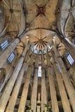 Sta. Maria del Mar. Interior of the Basilica of Sta. Maria del Mar, Barcelona Stock Photography