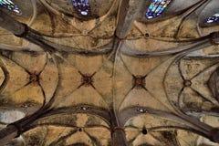 Sta. Maria del Mar. Interior of the Basilica of Sta. Maria del Mar, Barcelona Royalty Free Stock Images