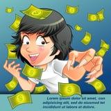 Sta prendendo i soldi royalty illustrazione gratis