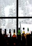 Staaf bij de skitoevlucht Royalty-vrije Stock Foto's