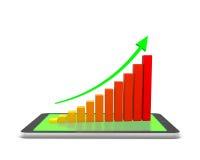 Staaf graph Stock Illustratie