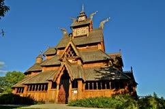 Staafkerk van Noors ontwerp Stock Fotografie